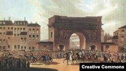 Вступление русских войск в Париж 30 марта 1814 года