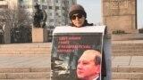 Kazakhstan - Darigha Raqym, activist. Almaty, 6 February 2020