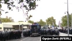 Венгерские полицейские на границе с Сербией, 16 сентября 2015 года