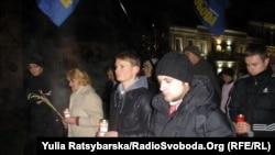 День памяти жертв Голодомора в Днепропетровске. 24 ноября 2012 года.