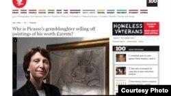 "Marina Picasso, ""İndependent"""