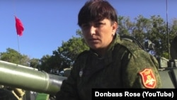Svitlana Dryuk gained notoriety as a tank commander for separatist forces in eastern Ukraine. (file photo)