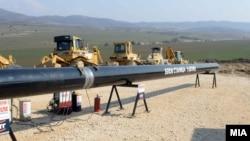 Архивска фотографија - Почеток на изградбата на магистралниот гасовод, Клечовце - Блок станица 5, дел од проектот за Националниот гасоводен систем