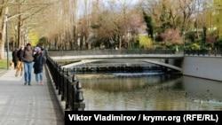 Річка Салгир у Сімферополі, березень 2020 року
