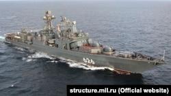 """Большой противолодочный корабль """"Вице-адмирал Кулаков"""", которому отказали в заходе в испанский порт"""