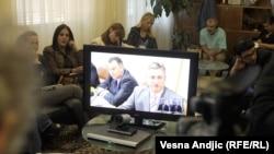 Uprava policije Srbije predstavila je javnosti video konferenciju hrvatskog i srpskog ministra unutrašnjih poslova, 06. septembar 2010.