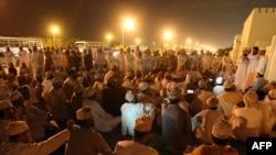 یکی از تجمعات معرتضان عمانی در اسفند ۸۹