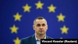 Олег Сенцов під час виступу в Європарламенті в Страсбурзі, Франція, 26 листопада 2019 року