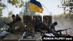 Ілюстраційне фото. Українські військові біля Краматорська. Вересень 2014 року