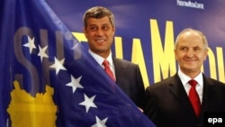Presidenti Fatmir Sejdiu dhe kryeministri Hashim Thaçi.