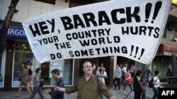 Protesti protiv posjete Bracka Obame