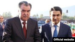 If a new constitutional referendum in Tajikistan is approved, it could pave the way for President Emomali Rahmon (left) to pass on the reins of power to his son Rustam (right).