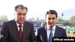 Emomali Rahmon və oğlu Rustam