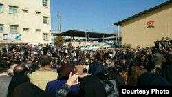 Акция протеста учителей в Ахвазе. Иран, 1 марта 2015 года.