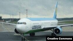 «Өзбекстан аба жолдору» авиакомпаниясынын учагы