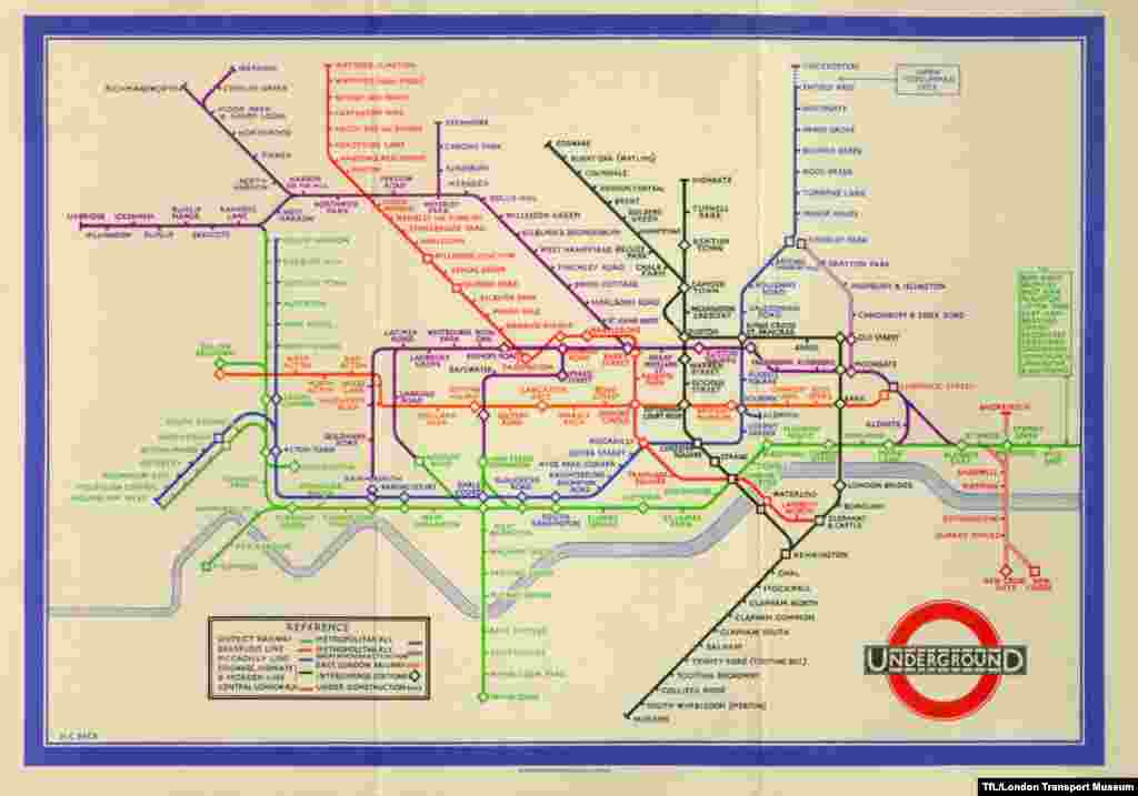 A pocket-sized Underground map from 1933