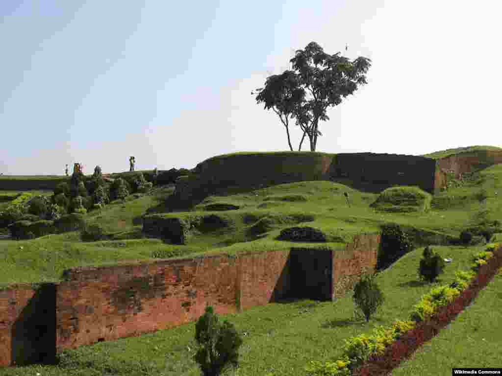 Mahasthangarh in Bangladesh, one of South Asia's earliest urban archaeological sites