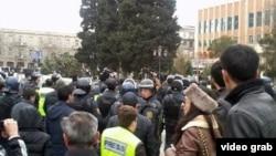 Акция протеста в Баку. 26 января 2013