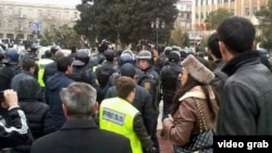 Azerbaijan -- protest in Baku - 26Jan2013