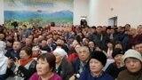 Участники встречи с акимом Восточно-Казахстанской области Даниалом Ахметовым. Село Акжар, ВКО, 27 февраля 2020 года.