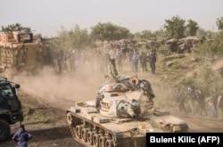 Турецкие войска и их союзники на севере Сирии.