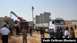 Начало строительства стены на турецко-сирийской границе (архивное фото).