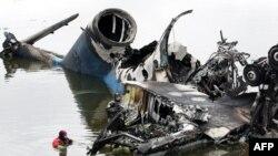 Обломки самолёта Як-42
