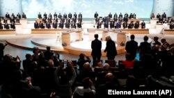 Pamje të samitit, Një Planet, të mbajtur sot në Francë