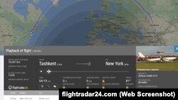 Скриншот с сайта Flightradar24.