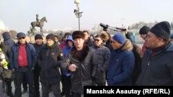 Айдоочулардын нааразылык ациясы. Алматы, 31-январь, 2020-жыл