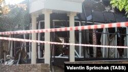 Кафе «Сепар», де трапився вибух, внаслідок якого загинув Олександр Захарченко