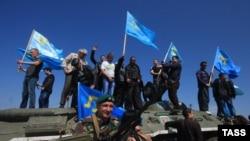 Крымские татары и украинские пограничники, Турецкий вал, 3 мая 2014 года