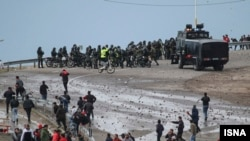 Tabriz- Violence at the football stadium in Tabriz on Friday, April 19