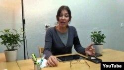 Скриншот видеообращения Балли Мажец, в котором она объясняет решение о выдвижении своей кандидатуры на пост президента Польши.
