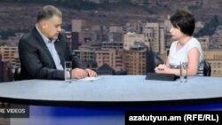 Министр юстиции Армении Давид Арутюнян в студии «Азатутюн ТВ», Ереван, 4 сентября 2017 г.