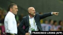 Тренер Михал Билек в бытность наставником чешской сборной по футболу. Варшава, 21 июня 2012 года.
