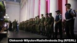 Співробітники Національної гвардії України біля мерії Одеси, 16 вересня 2017 року