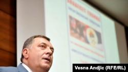 Milorad Dodik u Beogradu na predavanju o 20 godina Dejtonskog sporazuma, FPN, juni 2015