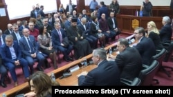 Vučić i Dodik sa privrednicima u Mrkonjić Gradu