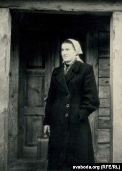 Ганна Пазьняк, 1958 год. Фота Зянона Пазьняка