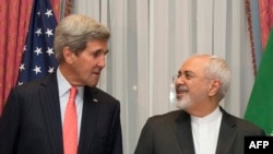 Intense contacts between U.S. Secretary of State John Kerry (left) and Iranian Foreign Minister Javad Zarif have now become routine. (file photo)