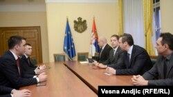 Gjatë takimit të mbajtur në Beograd.