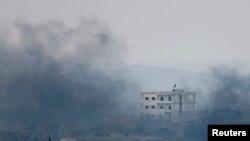 Бои в районе сирийского города Кобани.