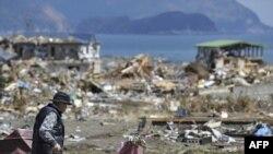 Один из пострадавших районов Японии