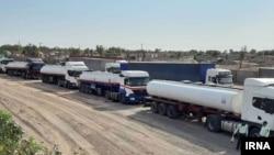 Ирандагы мунай ташыган танкерлер. Иллюстрациялык сүрөт.
