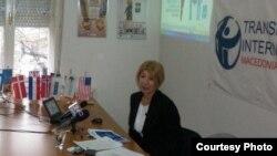 Претседателката на Транспаренси Интернејшнал-Македонија Слаѓана Тасева.