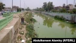 التلوث ظاهر على نهر العشار