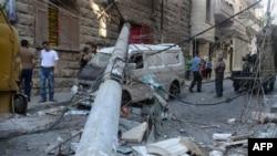 Pamje nga shkatërrimet nga lufta ë qytetin Alepo në Siri