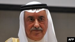 Saudi Arabian former Finance Minister Ibrahim Al-Assaf, now new foreign minister attends the Private Sector Middle East Conference in Riyadh on December 3, 2013.
