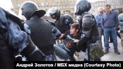 Москва, задержание Александра Костюка, 3 августа 2019 года